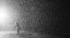 A large-scale environment by Random International, Rain Room is a field of falling water that pauses wherever a human body is detected—offering visitors the experience of controlling the rain. Description from random-international.com. I searched for this on bing.com/images