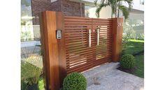 Zero Uno Studio - Residência Condomínio Quintas do Rio. Detalhe do portão de entrada.