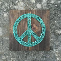 MADE TO ORDER String Art Peace Sign
