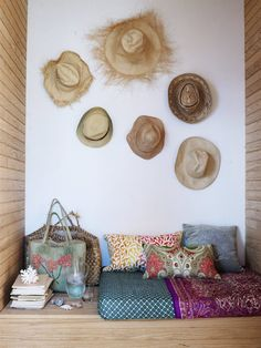 Gallery wall - hats