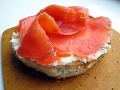 Bagel and lox--one of the great comfort foods...just add raw onion.