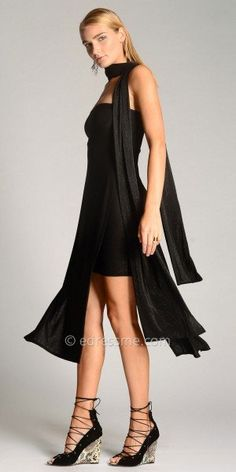 Arlette Dress  with Scarf by Julian Chang