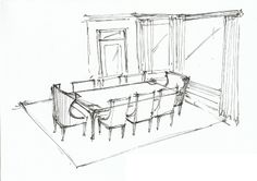 Dining Room Perspective sketch