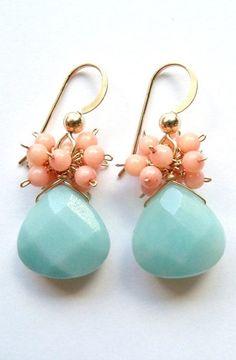 Wedding Colors: Aqua + Peach