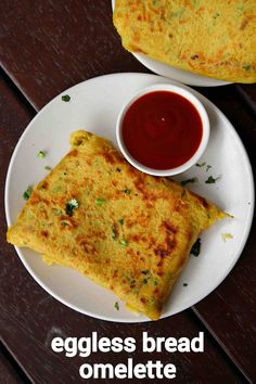 eggless bread omelette recipe, vegetarian omelette, no egg omelette with step by step photo/video. fusion or extension recipe to the classical egg based omelette but without egg. Spicy Recipes, Cooking Recipes, Asian Recipes, Omelette Recipe, Cheese Omelette, Omelette Ideas, Omelette Muffins, Breakfast Omelette, Chaat Recipe