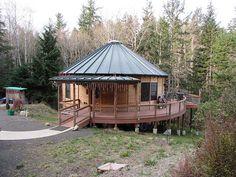 on radious diamiter yurt home plans