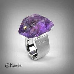 Jewelry | Jewellery | ジュエリー | Bijoux | Gioielli | Joyas | Art | Arte | Création Artistique | Precious Metals | Jewels | Settings | Textures | German Kabirski amethyst #ring