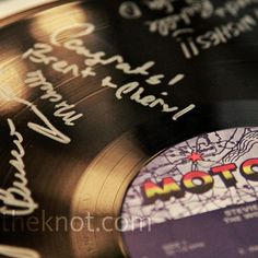 Vinyl Record Guest Book - Motown Inspired party