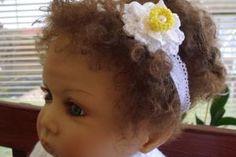 Childs headband Baby\ toddler Girl flower Spring by JaminaRose