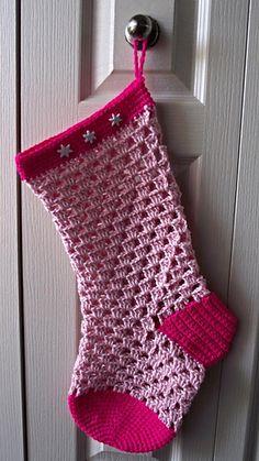 Crochet Stocking- FREE pattern @Connie Hamon Hamon Hamon Brzowski Hunter Gleason