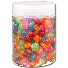 Plastpärlor i många olika former och färger