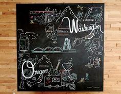 Portland, Oregon/Vancouver, Washington board at Thatcher's Coffee in VanWA