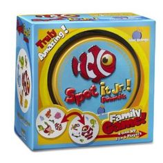 {stocking stuffers} Spot It Jr.! Animals: This game comes in a small tin case perfect for popping in a purse and keeping on hand for waiting time at restaurants. My 2 & 5 year old love it!