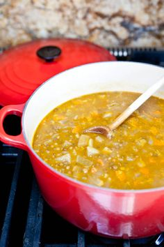 My curried lentil soup, vegan and gluten-free