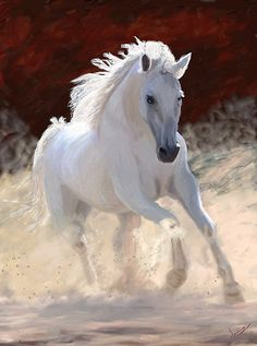 """Horse Painting - Horse Free Spirit by James Shepherd. place in """"All Horses"""" contest Painted Horses, Most Beautiful Animals, Beautiful Horses, Beautiful Things, Pretty Horses, Horse Love, Animals And Pets, Cute Animals, Spirited Art"""