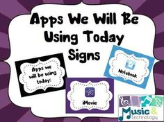 I created these posters to help with classroom management when using the iPads. These signs are to help students understand which apps we…