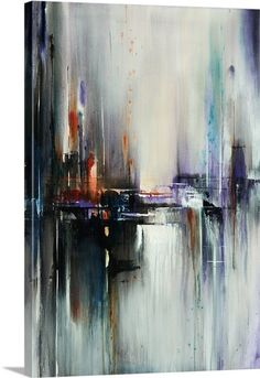 "Shop ""Outstretched"" by artist Sydney Edmunds to add a statement piece to your home or office. Featuring a large contemporary artwork with lovely hints of purple. Shop now at GreatBIGCanvas.com."