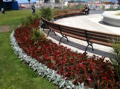 Peoples Park Dun Laoghaire - curved seating