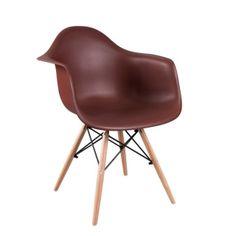 Stolička DAMEN, kreslo, tmavohnedá, buk Eames, Modern Retro, Chair, Furniture, Home Decor, Decoration Home, Room Decor, Home Furnishings, Stool