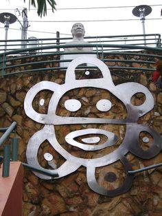 """Monumemento al Cacique Jayuya. Jayuya, P.R. """" El Pueblo De Los Tre Picachos"""""""