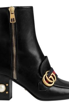 Gucci loafer booties and 30 Statement Boots to Beat the Winter Blues via @PureWow