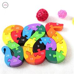 Wooden Jigsaw Puzzle With Numbers