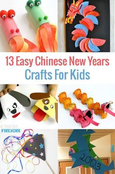 Did you know that the Chinese New Year, also known as the Spring Festival, lasts for approximately 23 days? Celebrate the holiday by making one of these 13 Easy To Make Chinese New Year Crafts For Kids! Perfect for little hands including toddlers, presc Chinese New Year Crafts For Kids, Chinese New Year Activities, Chinese Crafts, Winter Activities For Kids, Winter Crafts For Kids, Crafts For Kids To Make, Kids Crafts, Chinese Art, Chinese Food