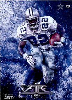 2014 Topps FIRE Football Card #1 Emmitt Smith - Dallas Cowboys MINT