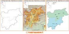 Cartina Muta Fisica Politica Trentino Alto Adige