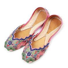 Beautiful Women's Handmade Indian Style Belly Dance Shoes With Bead