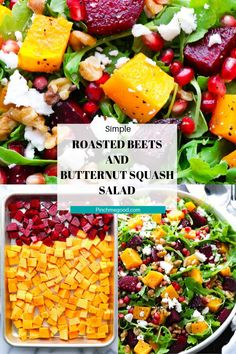 Roasted Beets and Butternut Squash Salad - Pinch Me Good Healthy Lunches For Kids, Healthy Summer Recipes, Healthy Snacks, Healthy Eating, Beet Recipes, Vegetarian Recipes, Detox Recipes, Smoothie Recipes, Roasted Beets
