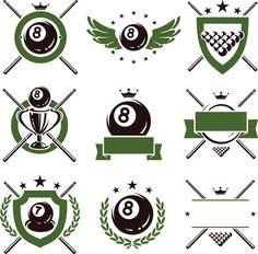 Creative Billiard logo design vector material creative,billiard ...