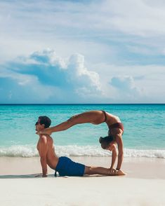 You are the sun to my moon, the yin to my yang. 🌙 ☀ ☯ #yoga #acroyoga #couplegoals #dominican Acro Yoga Poses, Partner Yoga Poses, You Are The Sun, Couple Goals, Photoshoot, Gym, Pure Products, Workout, Fitness