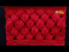 Cómo Tejer FLORES - How to Knit Flowers en 2 agujas (448) - YouTube