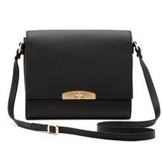 I'm craving this black leather shoulder bag made in Argentina
