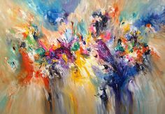 Abstract painting, Original artwork, large painting, Title:Incredible XL 1, by the Artist Peter Nottrott