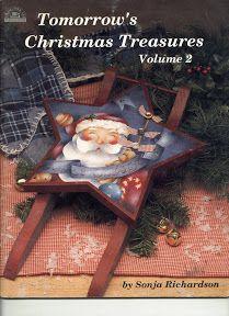 Tomorrow´s Christmas Treasures by Sonja Richardson, vol 2 - Nadieshda N - Picasa Web Albums Christmas Books, Primitive Christmas, Christmas Crafts, Christmas Canvas, Xmas, Book Crafts, Decor Crafts, Art Decor, Craft Books
