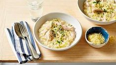 Leek, lemon and chicken risotto recipe Chicken Risotto, Sbs Food, Veggie Stock, Risotto Recipes, Sweet And Salty, Italian Recipes, Mashed Potatoes, Lemon, Veggies
