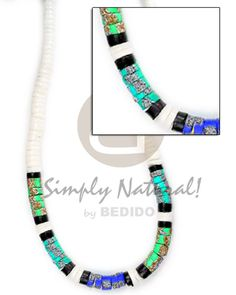 Handmade Graduated White Clam 7-8mm Teens Necklace Wholesale Jewelry