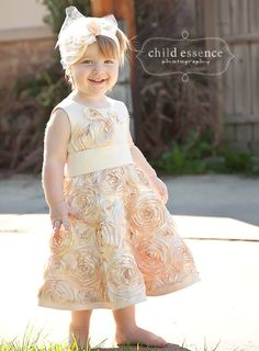 Reserved listing for Catrina Fithen. Custom flower girl dress and headband.. $62.50, via Etsy.