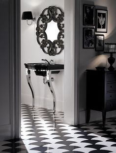 50 decorating ideas for bathroom sets - Sometimes we need more than a few inspiration ideas to really know what we are looking for to get style at home. Vintage Bathroom Decor, Vintage Bathrooms, Bathroom Sets, Modern Bathroom, Bathroom Black, Bathroom Furniture, Modern Furniture, Devon Devon, Style Classique