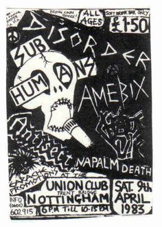 Disorder, Subhumans, and Amebix