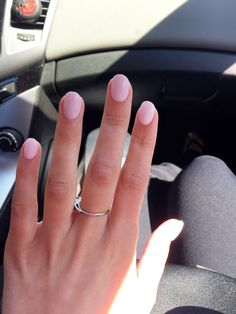 Round acrylic nails More