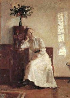 An Interior ~ Michael Peter Ancher ~ (Danish: 1849-1927)