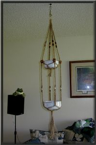 Macrame Patterns: Plant Hanger with 2 Tiers | Macrame Lovers Blog