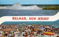 VINTAGE POSTCARD  BELMAR NJ 2 VIEW BANNER GREETING OCEAN AND BEACH VIEWS JUST $3.99 AVAILABLE ON EBAY HERE -> http://cgi.ebay.com/ws/eBayISAPI.dll?ViewItem&item=281114794657&ssPageName=STRK:MESE:IT