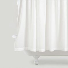 One of my favorite discoveries at WorldMarket.com: White Pintuck Shower Curtain