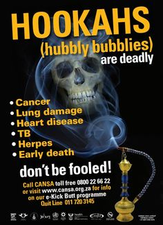 Busting the Hubbly Bubbly Myth: Contrary to the popular belief that smoking a water pipe has ...