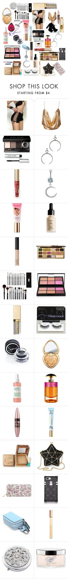 """Club time"" by crystaldieppa on Polyvore featuring Bobbi Brown Cosmetics, Luv Aj, Too Faced Cosmetics, Sephora Collection, NYX, NARS Cosmetics, Morphe, Stila, Ardell and Sigma"