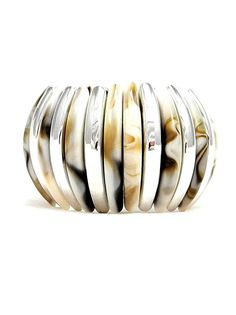 Silver and Shell Colored Bracelet - $15.00 : FashionCupcake, Designer Clothing, Accessories, and Gifts